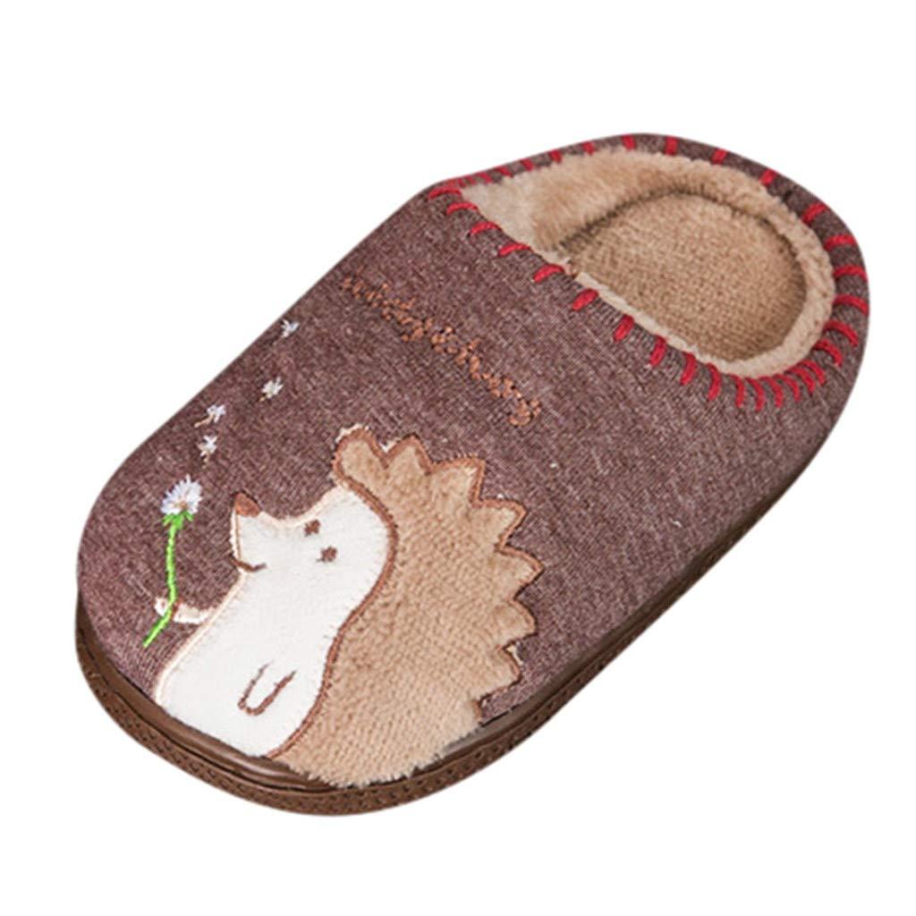 FRAUIT Ciabatte Bambino Invernali Chiuse Animali Pantofole Peluche Bambina Invernali Scarpine Antiscivolo Bambini Invernale Pattini Scarpe Antiscivolo Leggero Caldo Cotone