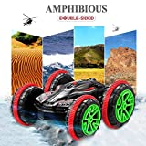GBlife RC Off-Road Car Boat, 2.4GHz Remote Control Waterproof Double Sided Stunt Car, High Speed Racing Electric Vehicle, 360 Degree Flips and Spins Truck for Land/Water