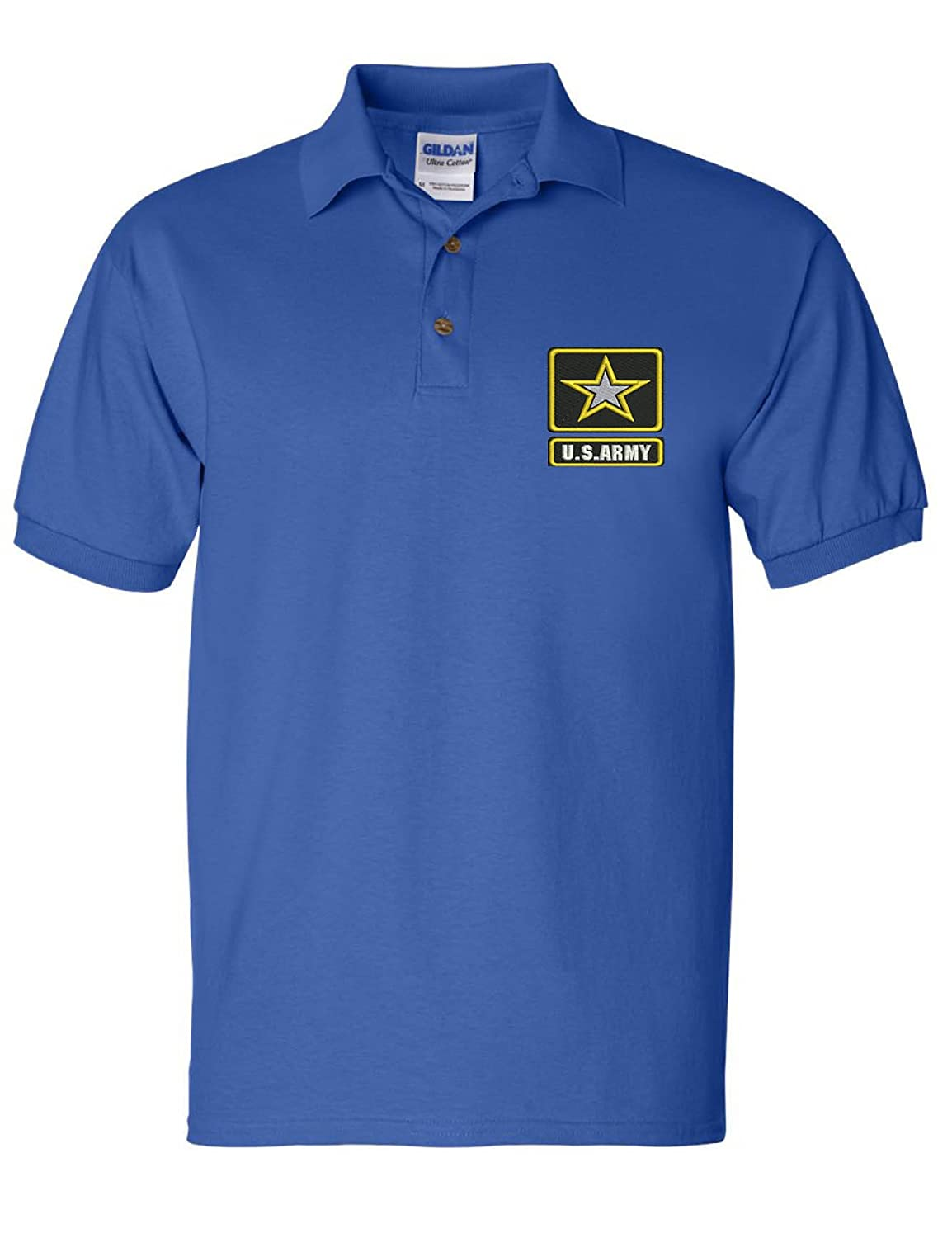 Allntrends Mens Polo T Shirt US Army Embroidered Military USA Army