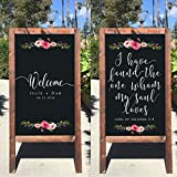 Rustic Wedding Sign - Welcome To Our Wedding Rustic Wooden Double Sided Sandwich Board