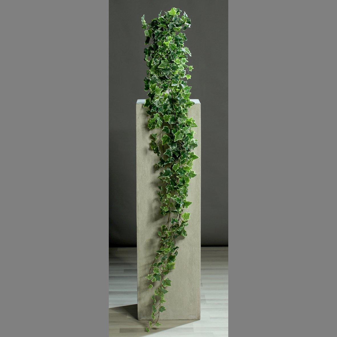 Efeu-Hänger Kunstpflanze grün-weiß 180cm 423 Blätter Deko