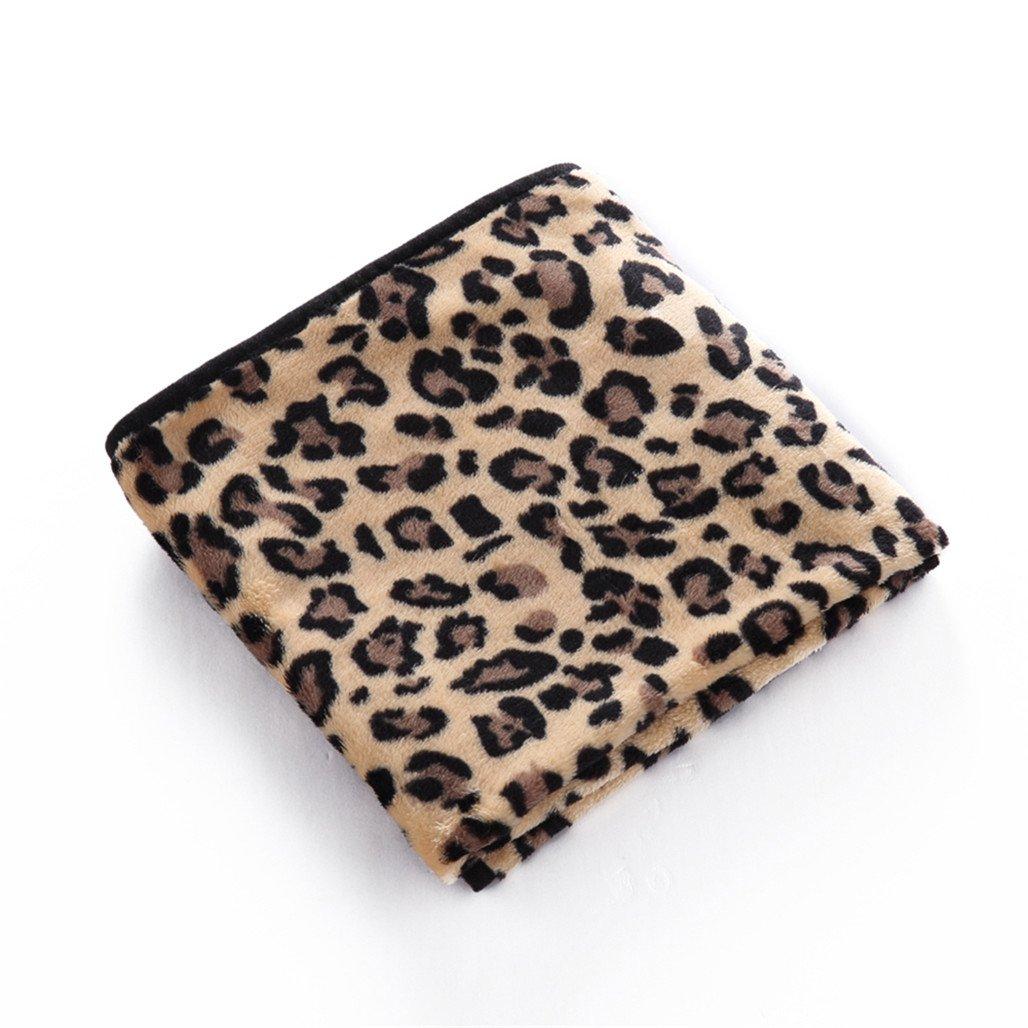 Alamana Pet Dog Cat Soft Warm Leopard Zebra Cow Print Bed Cover Blanket Sleep Mat