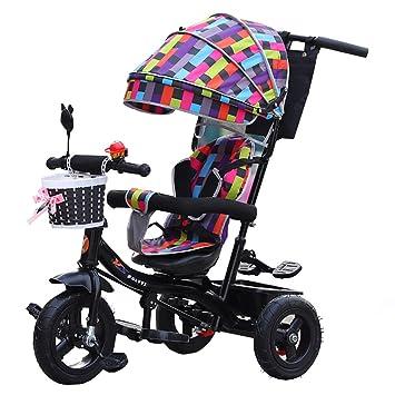 Multifuncional Equitación De Doble Uso De Tres Ruedas Giratorias Carrito De Triciclo De Niños Bicicleta 1