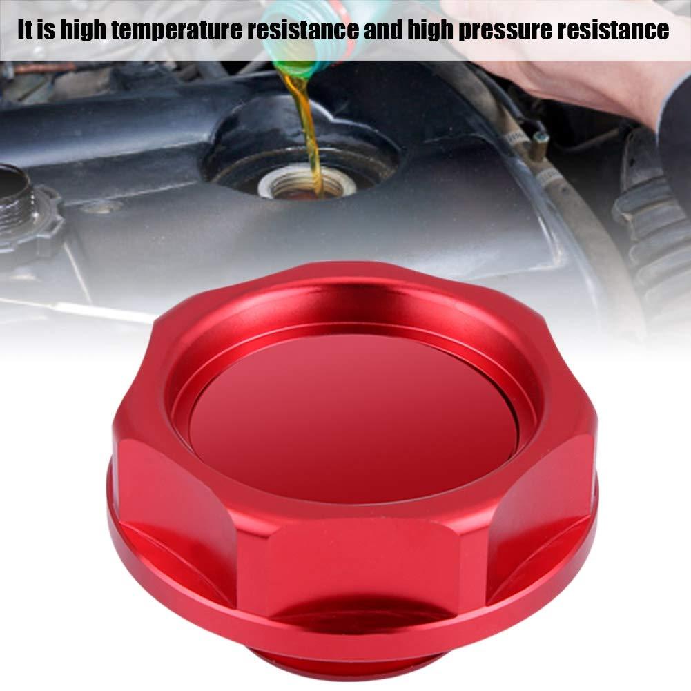 Black Aluminium Alloy Oil Cover Oil Filler Cover Engine Fuel Tank Cap for Honda Car
