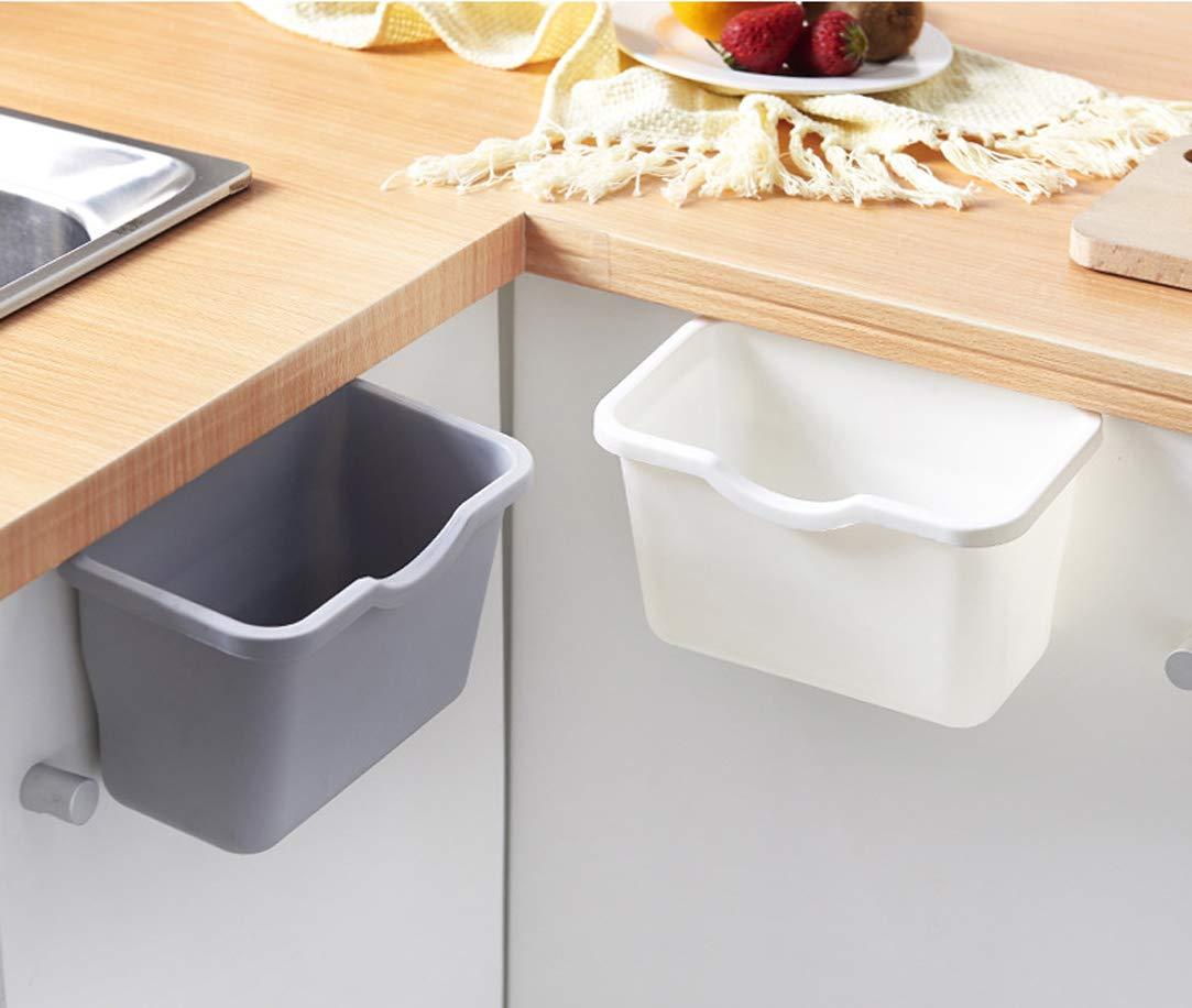 Größe 21 8 Docakaicn Küchenschränke können frei hängen Mülleimer Kleiner Haushalt grau Kunststoff Mülleimer Schranktür hängen Art 12,5 cm