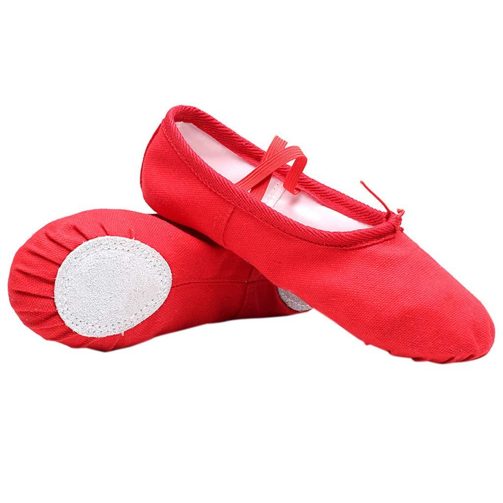 zapatillas de gimnasia y yoga 25 negro zapatillas de baile puntiagudas 2019 zapatillas de ballet de algod/ón para ni/ña