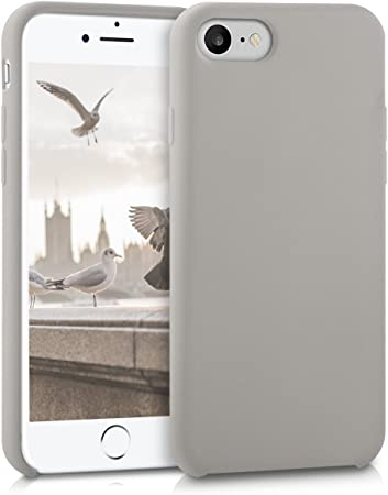 Kwmobile Hülle Kompatibel Mit Apple Iphone 7 8 Se 2020 Handyhülle Gummiert Handy Case In Taupe Elektronik