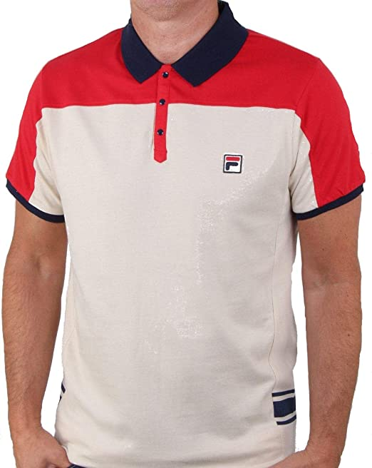 Fila - Polo - Uomo White Large: Amazon.it: Abbigliamento