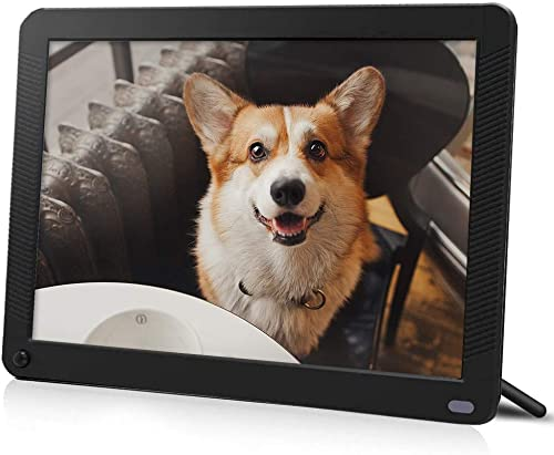IEBRT Digital Picture Frame with 1920×1080 IPS Screen, Digital Photo Frame Support Adjustable Brightness Photo Frames 1080P Video Music Remote 16 9 Widescreen 8 inch