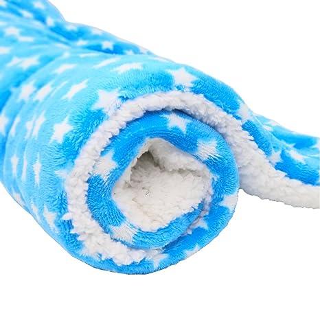 Lanchengjieneng Manta Perro, Mascota para perros manta de cama cubierta de tela de vellón suave