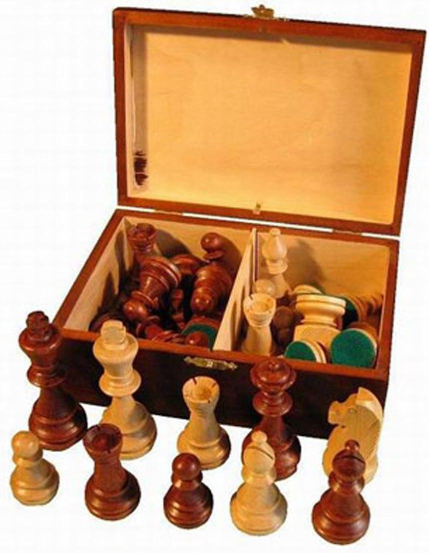 Hartholz Staunton Holz Schachfiguren SCHACH ERSATZTEIL Pferd 5,6  cm schwarz