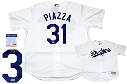 new arrival a2bbf cc686 Mike Piazza Autographed Jersey - LA Majestic Cool Base - PSA ...