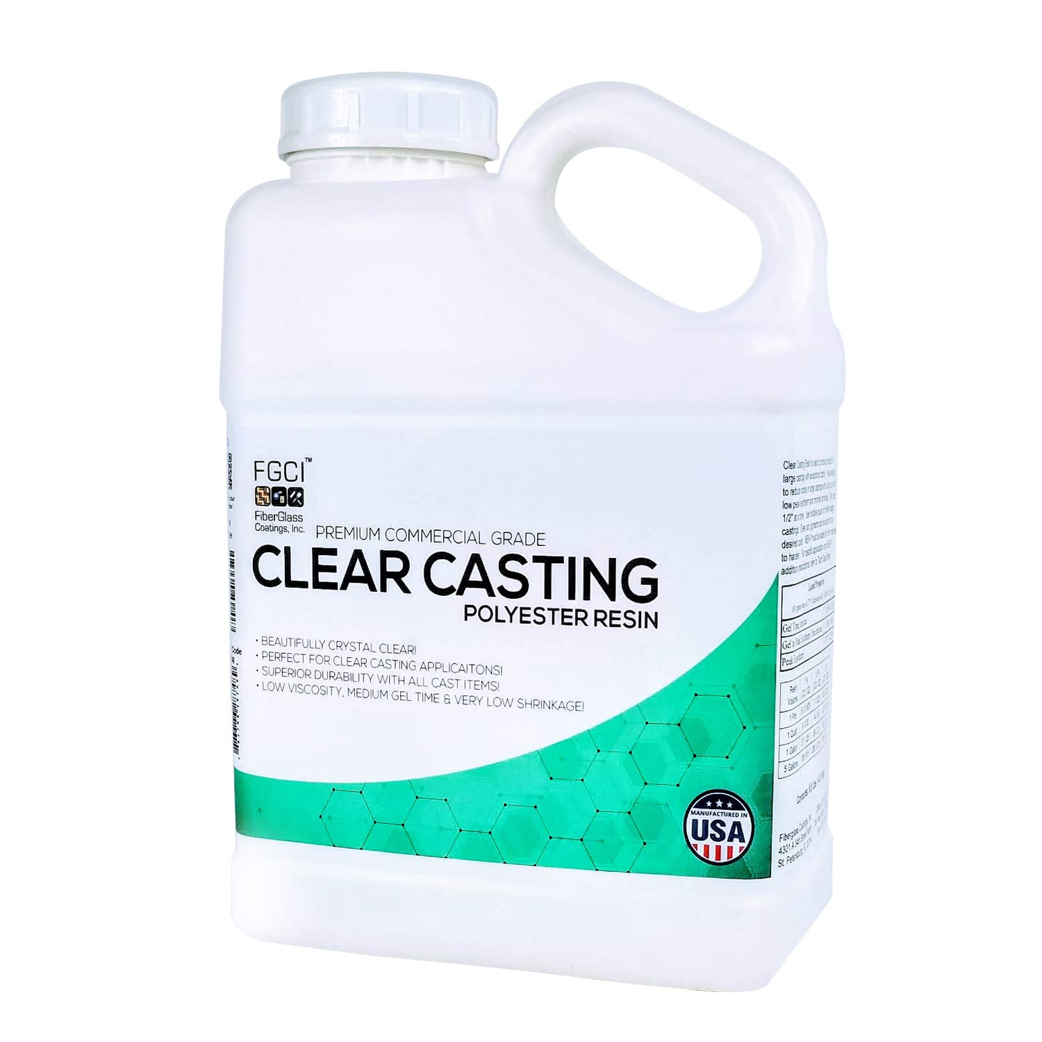 Clear Casting Resin, Polyester Resin, 1 Gallon w/Hardener, Liquid Plastic  Easy Cast, Resin Molds Resin Casting, Craft Water, Realistic Fake Water,