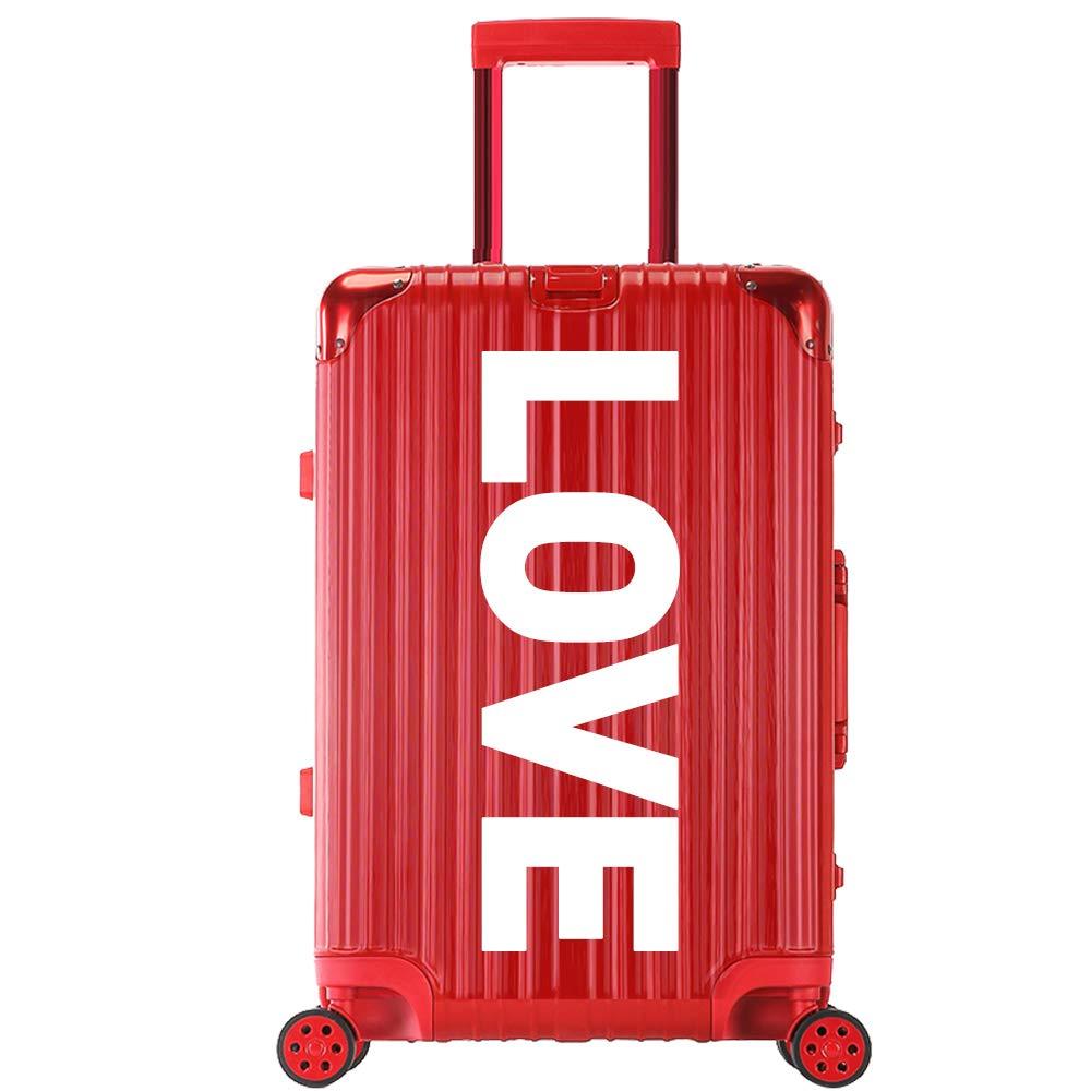 XY トロリーケース - ABS/PC、TSA税関コードロック、起毛面、学生個性アルミフレーム旅行大容量トロリーケース - 5パターンカラーオプション トランク (色 : Red - love)  Red - love B07R22X49J