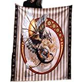Wild Star Home Steam Punk Dragon - Fleece Blanket 58 x 58 inches by Anne Stokes