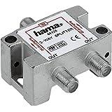 Hama SAT-Verteiler, 2-fach, voll geschirmt (Amazon Frustfreie Verpackung)