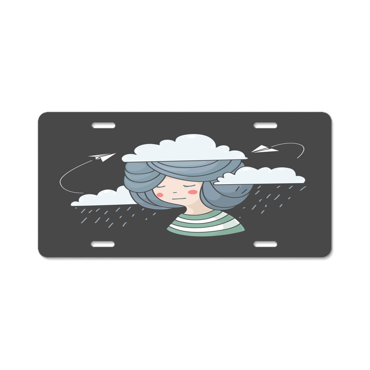 Pulongpoq The Glass is Refillable Aluminum License Plate Front License Plate Vanity Tag