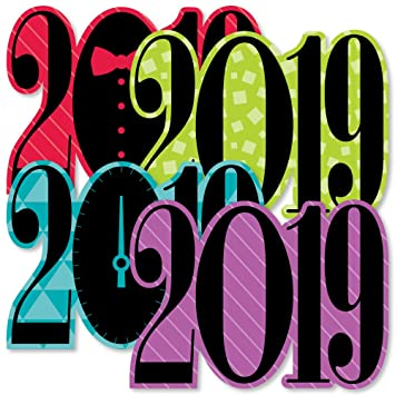 Amazon Com Colorful New Years Eve 2019 Decorations Diy New Years