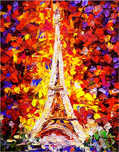 Eiffel Tower in Paris France Fine Art Print - 11x14 Unframed Wall Art Photo - Great Gift for those passionate about Traveling and Life - Great Gift For Under $20