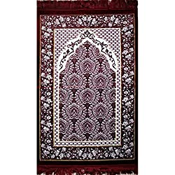 Prayer Rug - Velvet Red & White Floral Daisy