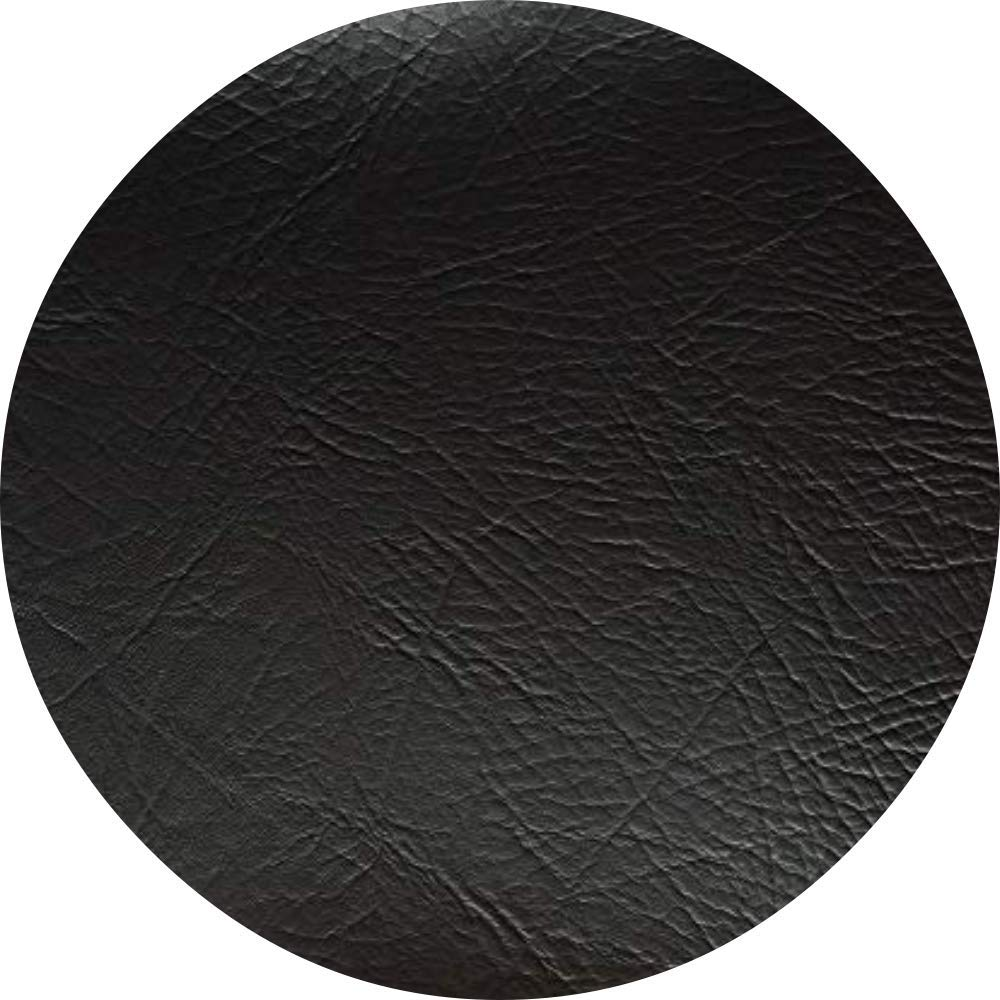 SAMPLE Rectangular /& Round Faux Leather Leatherette Vinyl Leather Cloth Upholstery Fabric Material Black,