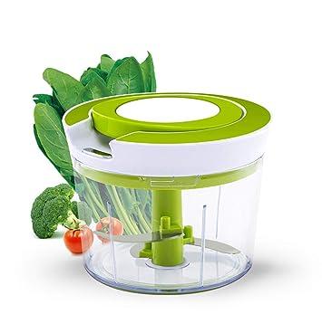 Gemüsezerkleinerer mit Auffangbehälter Zwiebelschneider Gemüseschneider