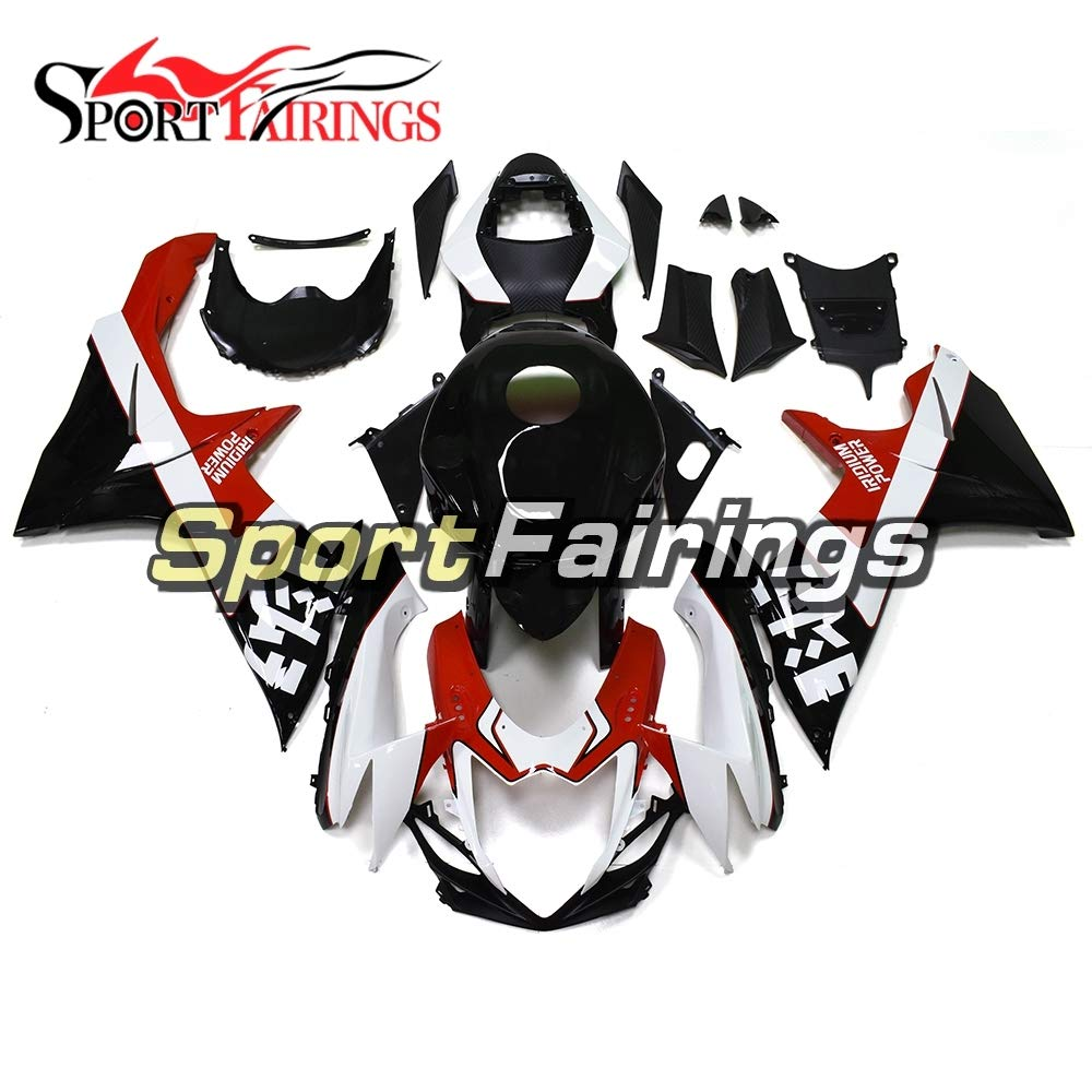 SPMOTO 新しいボディワーク ABS オートバイの完全な整形スズキ GSXR600 GSXR750 K11 年 2011-2016 12 13 14 15 ボディキットカウリンググロスブラックレッドフェアリングキット   B07H7DK918