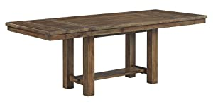 Signature Design By Ashley - Moriville Rectangular Dining Room Extention Table - Casual Style - Grayish Brown
