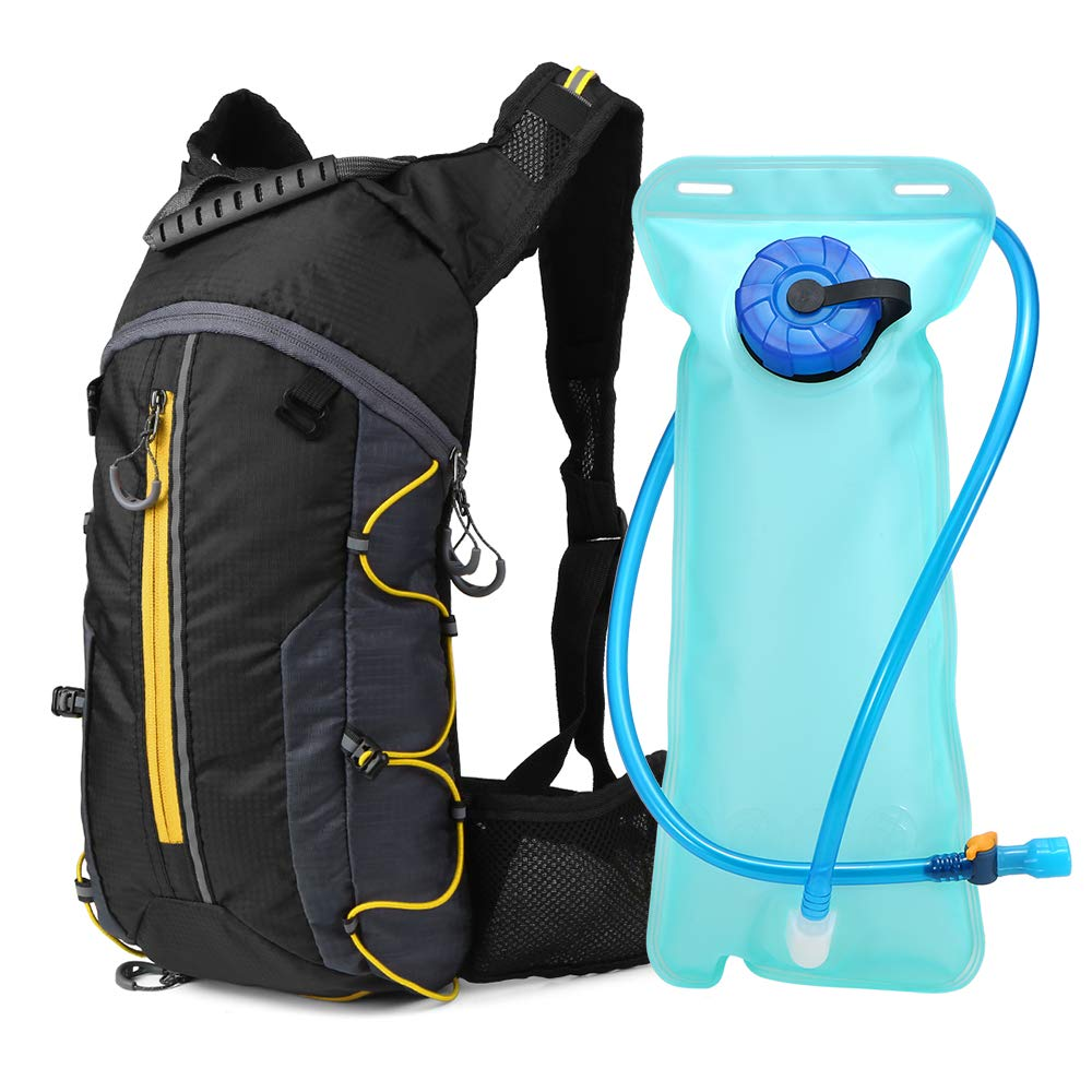 Lixada Hydration Backpack with 2L Water Foldable Lightweight Bike Riding Hydration Bladder Pack Backpack Perfect Outdoor Gear for Skiing,Running,Hiking,Cycling