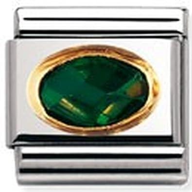 030601 Femme Maillon pour bracelet composable Nomination Acier inoxydable et Or jaune 18 cts