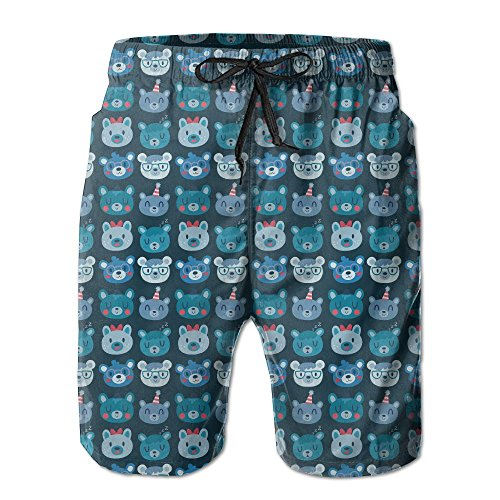 Bears Schedule Baseball Floral Classical Surfing Board Swimsuit Trunks Short