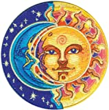 #3: Applique Moon and Sun Half Blue and Half Yellow Patch