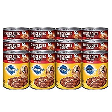 Pedigree Choice Cuts in Gravy with Beef, 22 Oz Cans (Pack of 12)