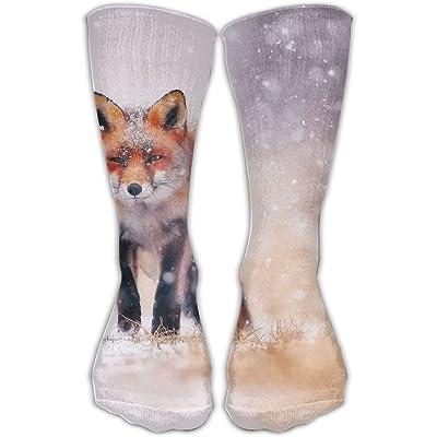 YUANSHAN Socks Cold Winter Snow Fox Women & Men Socks Soccer Sock Sport Tube Stockings Length 11.8Inch