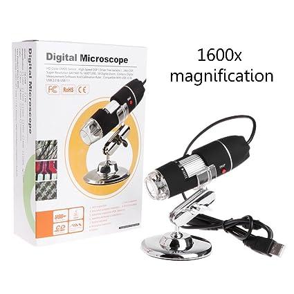 Amazon com: Sarora - 1600X 2MP Zoom Microscope - LED USB