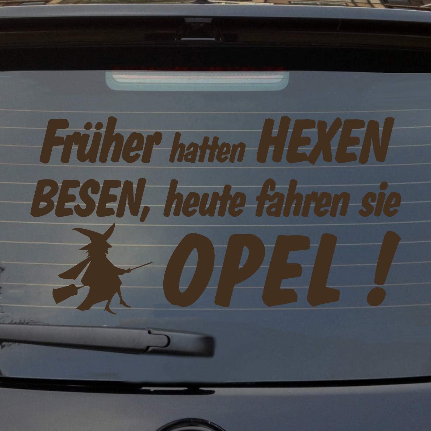 Auto Aufkleber Früher Hexen Besen Heute Fahren Sie Opel Heckscheibe Sticker Auto