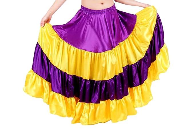 Amazon.com: Indio Moda Mujer Satén 25 yard con 4 niveles ...