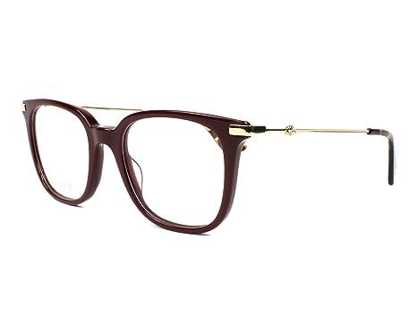 Amazon.com: Gucci Women\'s Eyeglasses GG0110O GG/0110/O 006 Burgundy ...