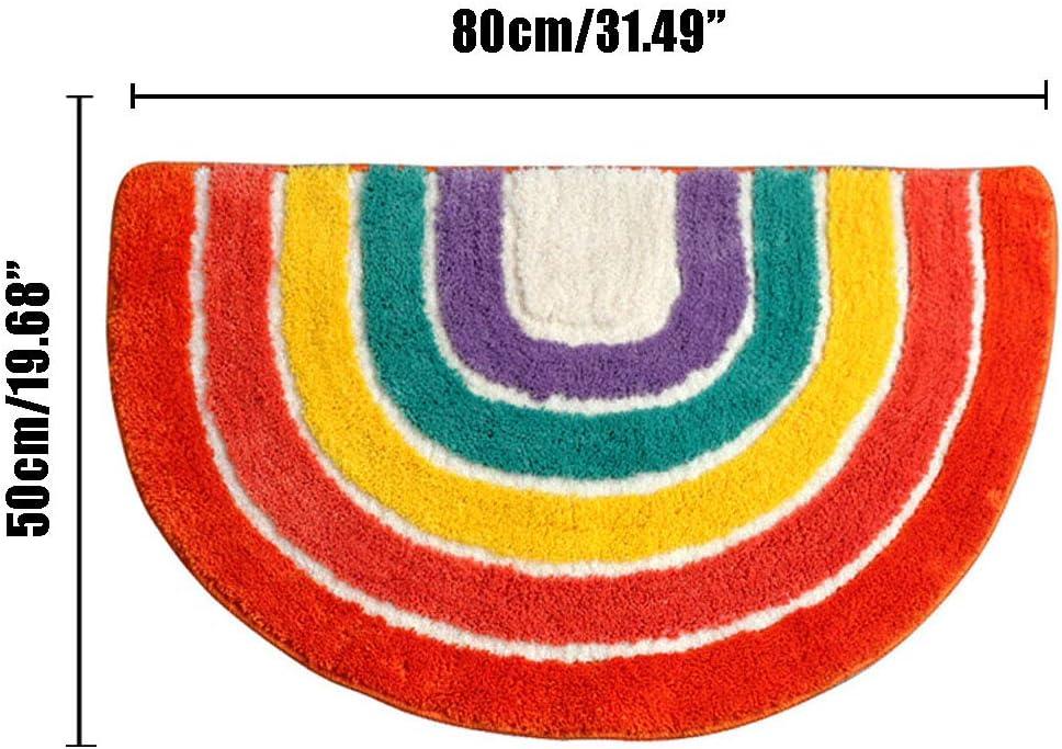 Multicolor 50 x 80 cm Xinyanmy Alfombra de ba/ño de Microfibra Antideslizante