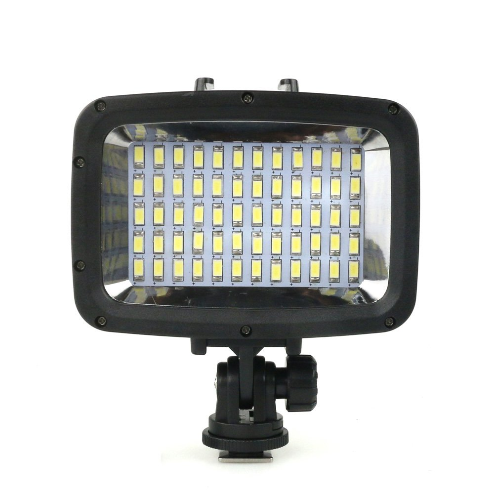 60pcs LED Diving Fill-in Light Ultra Bright 1800LM Waterproof Underwater 40m 5500K Video Studio Photo Lamp for for Canon Nikon Sony DSLR Camera & GoPro Hero Xiaomi Yi SJCAM Action Cam