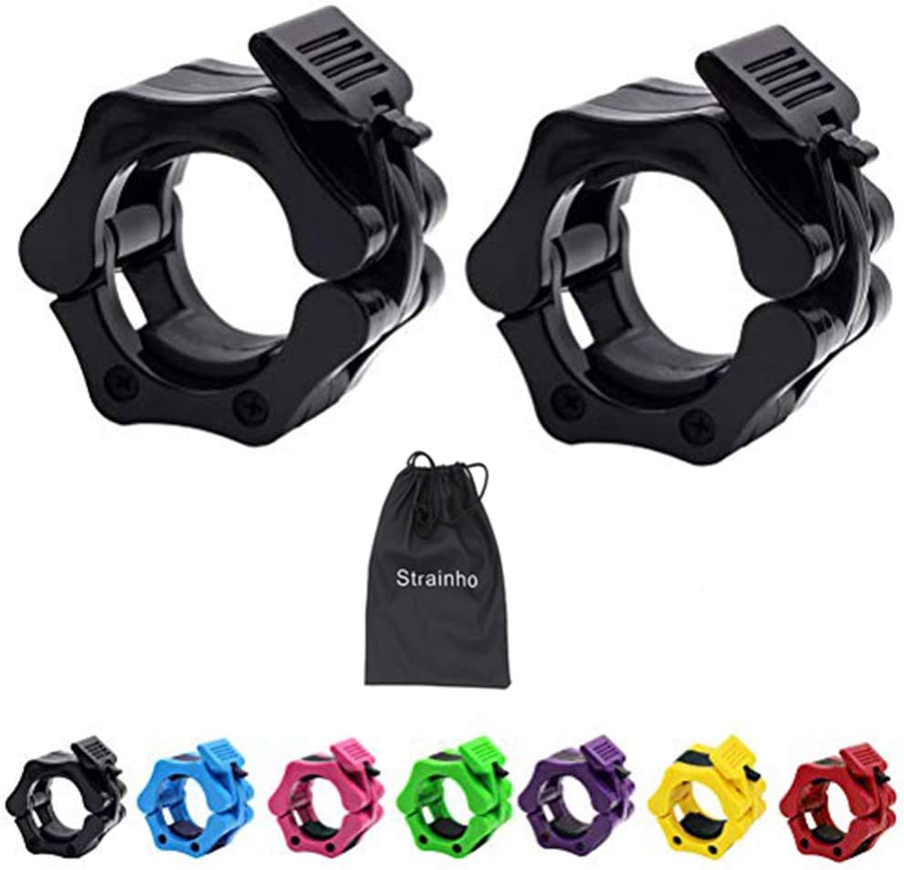 """FXR SPORTS QUICK RELEASE BAR COLLARS 1/"""" STANDARD 2/"""" OLYMPIC LOCKING CLAMPS"""