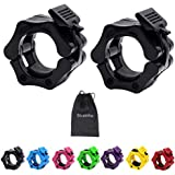 Strainho Olympic Weight Bar Clips - 2 inch Barbell Collars - Quick Release Olympic Barbell Clamp for Weightlifting, Olympic Lifts and Strength Training