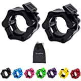Strainho Olympic Weight Bar Clips - 2 inch Barbell Collars - Quick Release Olympic Barbell Clamp for Weightlifting…