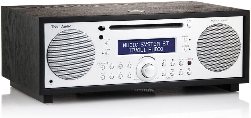 Tivoli msybt-1460-eu mt-1459de EU Music System BT Bluetooth FM/MW/CD 2.1Sistema de Altavoces Negro Fresno/Plata