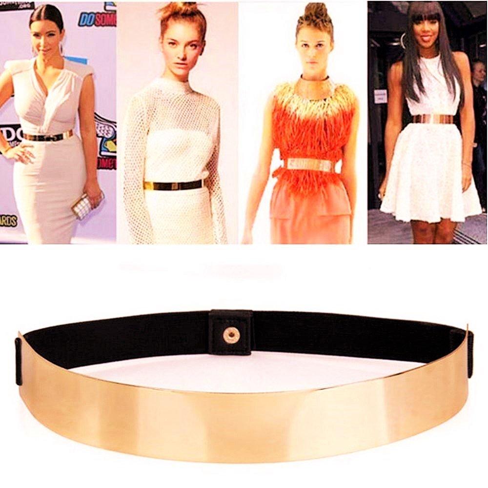 Sleek Gold Mirror Belt By Fling Fashions FFMIRRORBELT