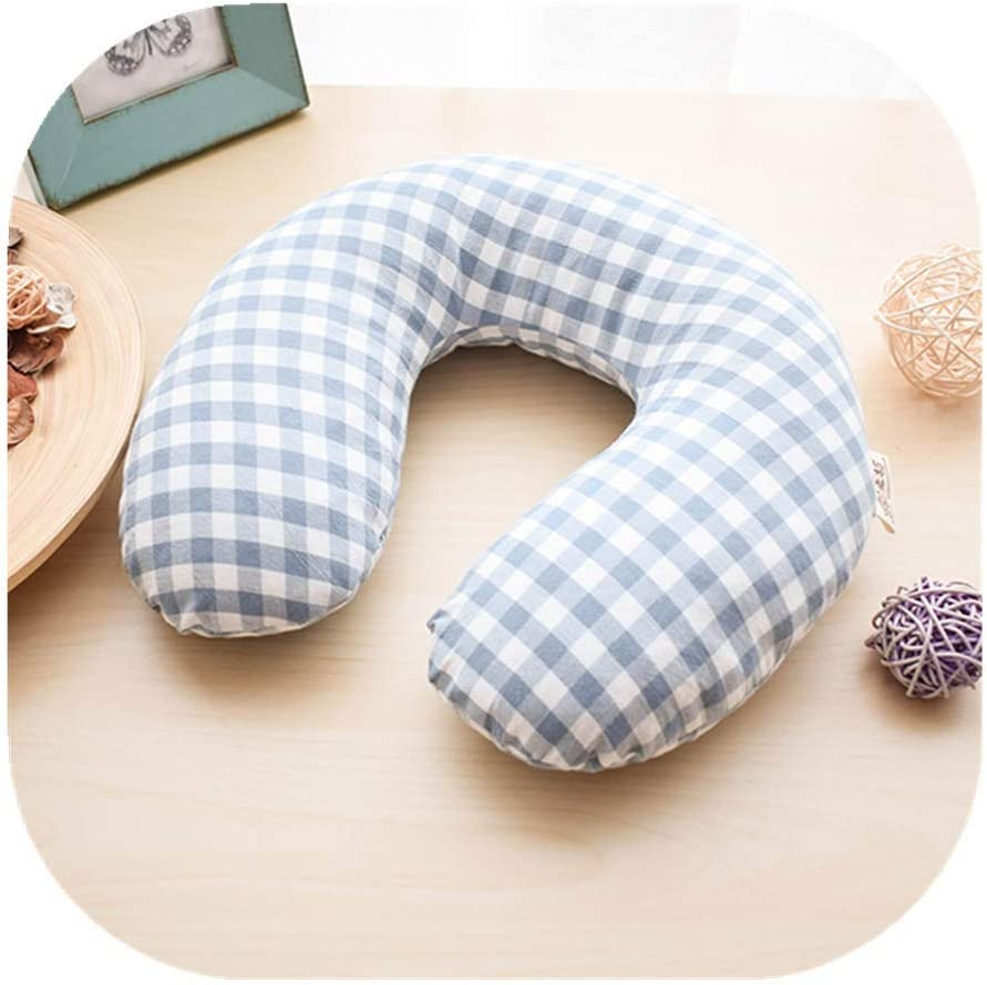 Edomi Buckwheat Neck Pillow Breathable U Shaped Pillow Ergonomic Travel Head Pillow Cervical Neck Cooling Pillows for Sleeping Buckwheat Hulls Filling Double Fabric Removable Cotton Cover (Blue)