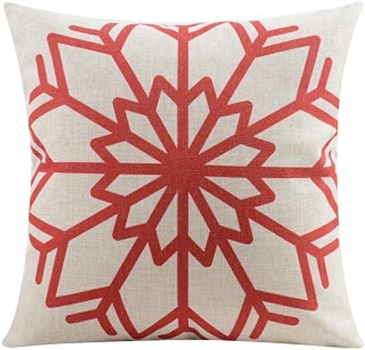 or custom color pillow cover Custom off white burlap winter snowflake AQUA