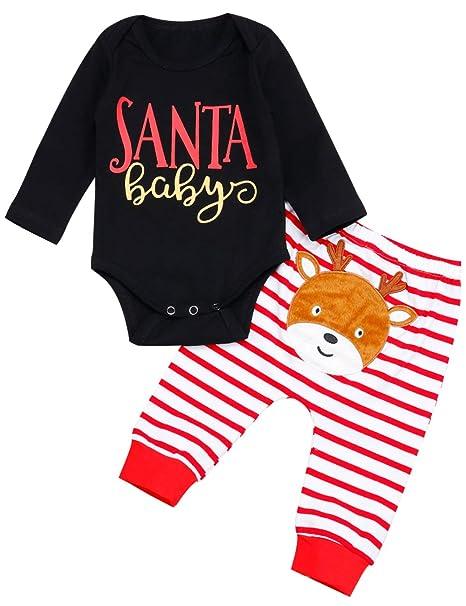 Amazon.com: Traje de Navidad para recién nacido, ropa de ...