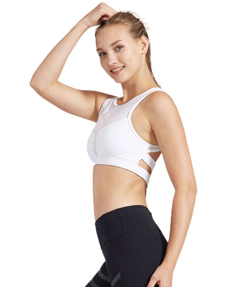 Light&Leaf Women's High Impact Padded Open Back Yoga Sports Bra Crop Tank Top by Light&Leaf (Image #2)