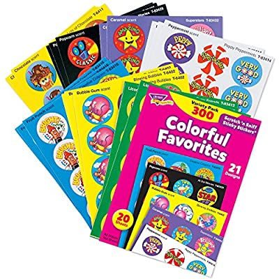 Stinky Sticker Colorful Favorites Variety Pack of 300: Industrial & Scientific